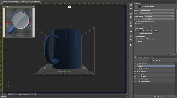 3D printing in photoshop