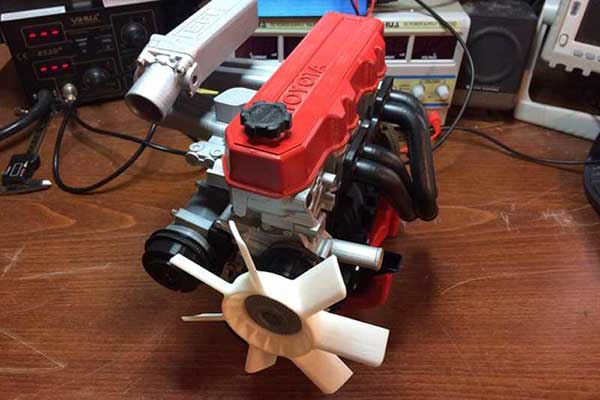 3d printed Toyota engine